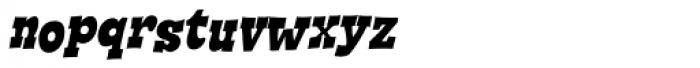 Cornpile Heavy Italic Font LOWERCASE
