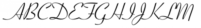 Coronet Font UPPERCASE