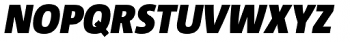 Corpid SemiCond Black Italic Font UPPERCASE