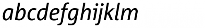 Corpid SemiCond Italic Font LOWERCASE