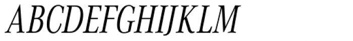 Corporate A Cond Light Italic Font UPPERCASE