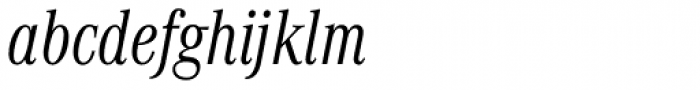 Corporate A Cond Light Italic Font LOWERCASE