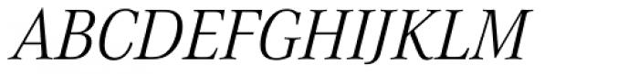Corporate A Pro Light Italic Font UPPERCASE