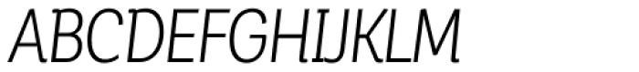 Corporative Alt Condensed Book Italic Font UPPERCASE