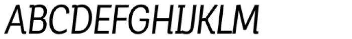 Corporative Alt Condensed Regular Italic Font UPPERCASE