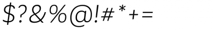 Corporative Sans Alt Book Italic Font OTHER CHARS