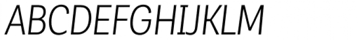 Corporative Sans Alt Condensed Book Italic Font UPPERCASE