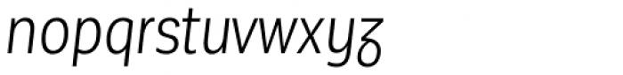 Corporative Sans Alt Condensed Book Italic Font LOWERCASE
