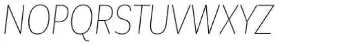Corporative Sans Alt Condensed Hair Italic Font UPPERCASE