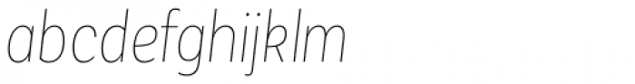 Corporative Sans Alt Condensed Hair Italic Font LOWERCASE