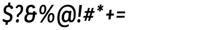 Corporative Sans Alt Condensed Medium Italic Font OTHER CHARS