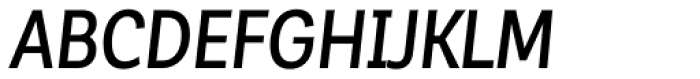 Corporative Sans Alt Condensed Medium Italic Font UPPERCASE