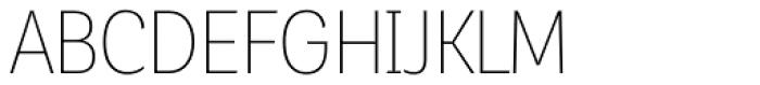 Corporative Sans Alt Condensed Thin Font UPPERCASE