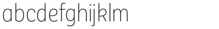 Corporative Sans Alt Condensed Thin Font LOWERCASE