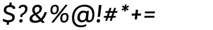 Corporative Sans Alt Medium Italic Font OTHER CHARS