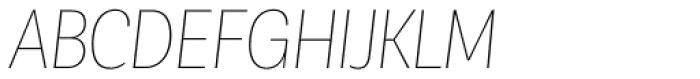 Corporative Sans Condensed Hair Italic Font UPPERCASE