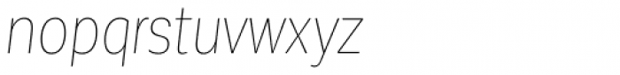Corporative Sans Condensed Hair Italic Font LOWERCASE