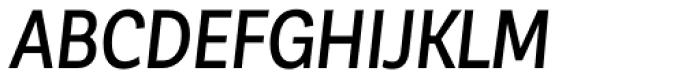 Corporative Sans Condensed Medium Italic Font UPPERCASE