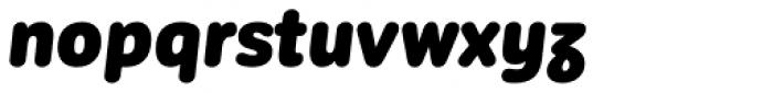 Corporative Sans Round Condensed Alt Black Italic Font LOWERCASE