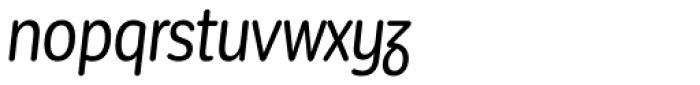 Corporative Sans Round Condensed Alt Italic Font LOWERCASE