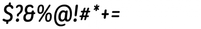 Corporative Sans Round Condensed Alt Medium Italic Font OTHER CHARS