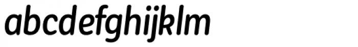 Corporative Sans Round Condensed Alt Medium Italic Font LOWERCASE