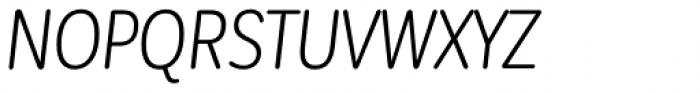 Corporative Sans Round Condensed Book Italic Font UPPERCASE