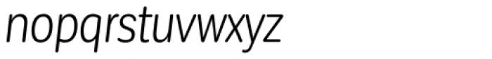 Corporative Sans Round Condensed Book Italic Font LOWERCASE