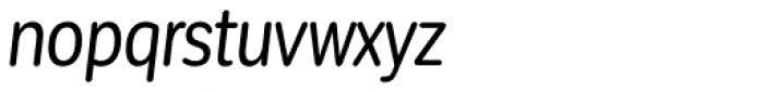 Corporative Sans Round Condensed Italic Font LOWERCASE