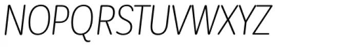 Corporative Sans Round Condensed Light Italic Font UPPERCASE