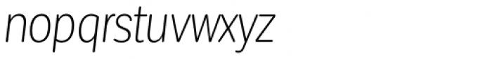 Corporative Sans Round Condensed Light Italic Font LOWERCASE