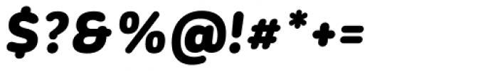Corporative Sans Rounded Alt Black It Font OTHER CHARS