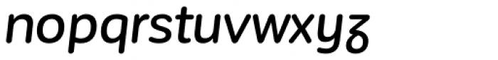 Corporative Sans Rounded Alt Medium It Font LOWERCASE