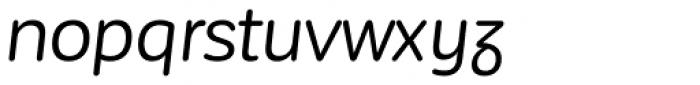 Corporative Sans Rounded Alt Regular It Font LOWERCASE