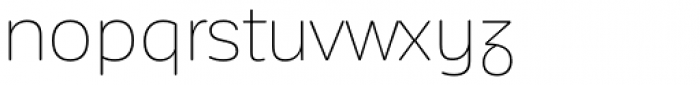 Corporative Sans Rounded Alt Thin Font LOWERCASE