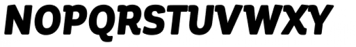 Corporative Soft Condensed Black It Font UPPERCASE