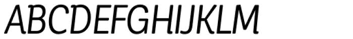Corporative Soft Condensed Regular It Font UPPERCASE