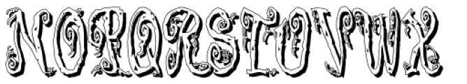 Corpse Fairy Shadow Font UPPERCASE