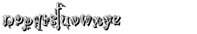 Corpse Fairy Shadow Font LOWERCASE