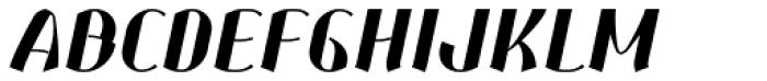 Corset Pro Black Italic Font UPPERCASE