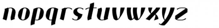 Corset Pro Black Italic Font LOWERCASE