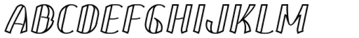 Corset Pro Inlier Italic Font UPPERCASE