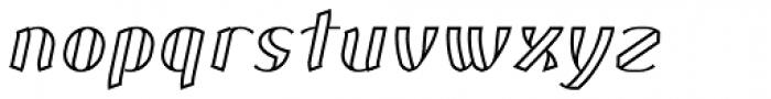 Corset Pro Inlier Italic Font LOWERCASE