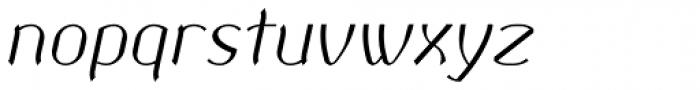Corset Pro Light Italic Font LOWERCASE