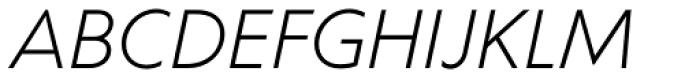 Corsica LX Book Italic Font UPPERCASE