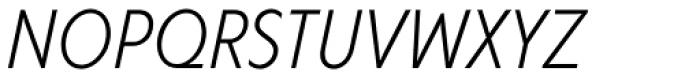 Corsica LX Cond Book Italic Font UPPERCASE