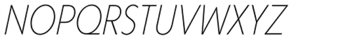 Corsica LX Cond Light Italic Font UPPERCASE