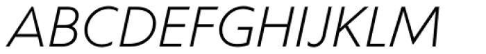 Corsica SX Book Italic Font UPPERCASE
