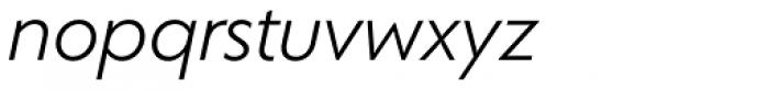Corsica SX Book Italic Font LOWERCASE