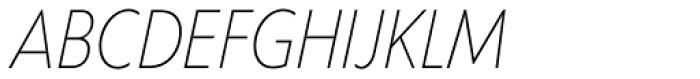 Corsica SX Cond Light Italic Font UPPERCASE